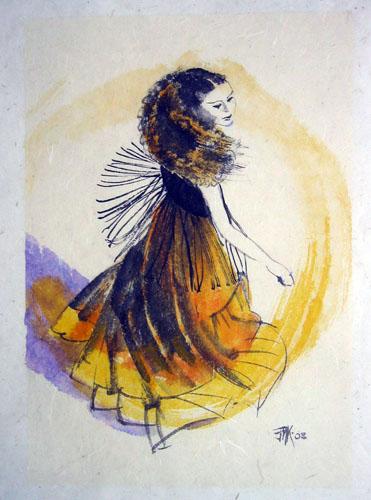 Danse 2, La robe jaune
