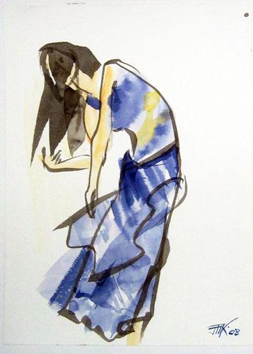 Danse 3, La robe bleu