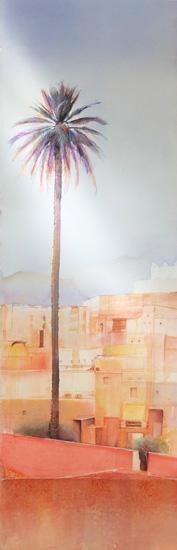 Paysage avec palmier