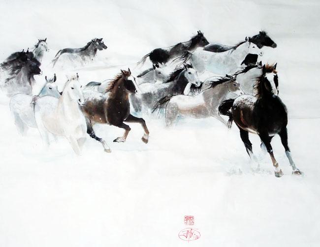 Les chevaux de l'hiver